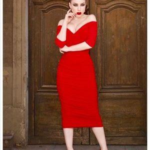 Laura Byrnes California Monica Wiggle Pencil Dress